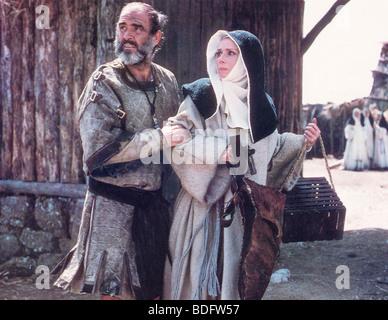ROBIN und MARIAN 1976 Columbia Film mit Sean Connery und Audrey Hepburn - Stockfoto