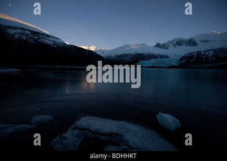 Winter, Seno Pia, Ostarm, Feuerland, Chile - Stockfoto