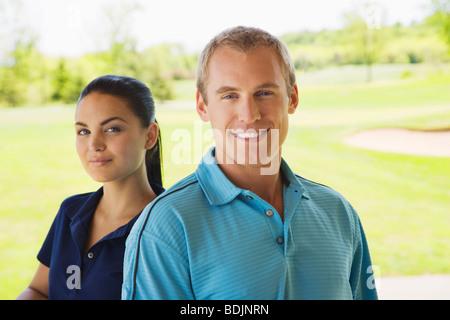Paar im Golf Club - Stockfoto