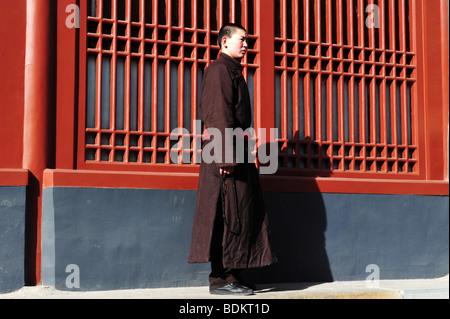 Tibetischer Mönch an den Lama Tempel Peking-china - Stockfoto
