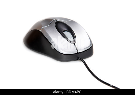 Computer-Maus mit Kabel, Isolated on White Background Stockfoto ...