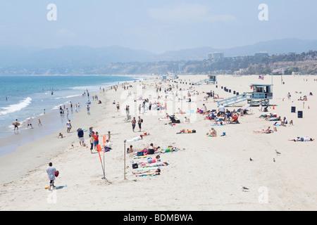 Santa Monica Beach in Los Angeles, Kalifornien, USA - Stockfoto