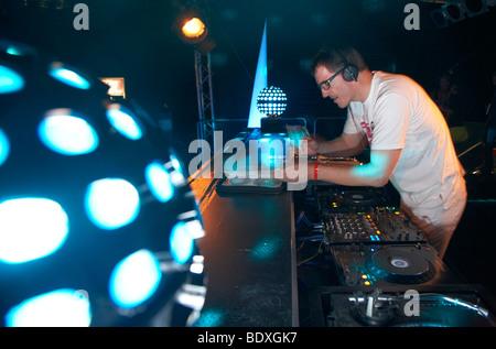 Techno-Nature One Festival 2009, DJ Dr. Motte, Kastellaun, Rheinland-Pfalz, Deutschland, Europa - Stockfoto