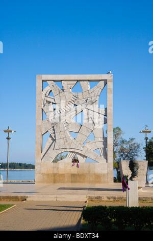 Gedenkstätte für die Opfer des Faschismus, Valdibora, Rovinj, Istrien, Kroatien, Europa - Stockfoto