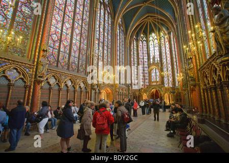 Die obere Kapelle La Sainte Chapelle in Paris, Frankreich - Stockfoto