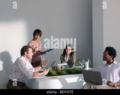 Ein Business-Meeting auf ein grünes Thema - Stockfoto
