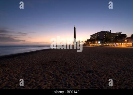 Leuchtturm El Faro de Maspalomas, Gran Canaria, Kanarische Inseln, Spanien, Europa - Stockfoto