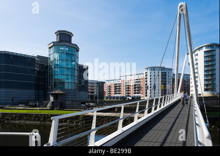 Das Royal Armouries Museum am Ufer des Flusses Aire, Clarence Dock, Leeds, West Yorkshire, England - Stockfoto