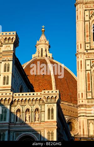 Abend auf dem Dom in Florenz, Toskana Italien - Stockfoto