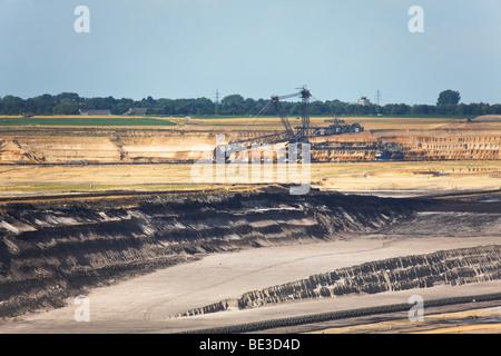 Garzweiler 2, Braunkohle Oberfläche Bergbau, North Rhine-Westphalia, Deutschland, Europa - Stockfoto