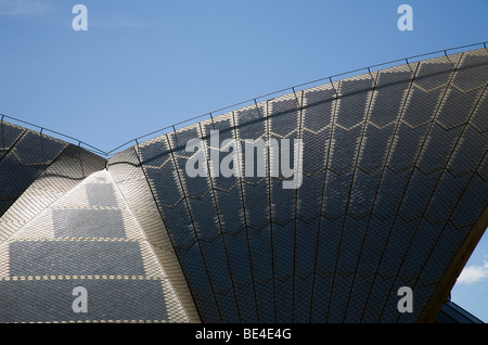 Sydney Opera House Dach Detail. Sydney, New South Wales, Australien - Stockfoto