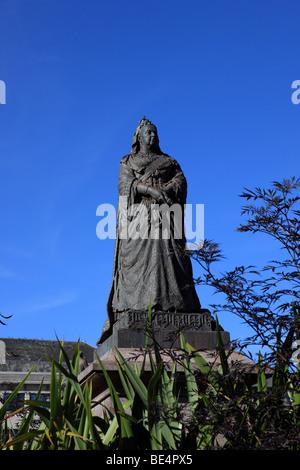 Statue der Königin Victoria in Dunns Square in Paisley Renfrewshire - Stockfoto