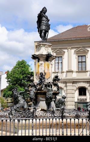 Der Augustusbrunnen Brunnen in der Altstadt von Augsburg, Bayern, Deutschland, Europa - Stockfoto
