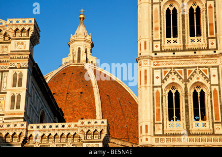Abend am Duomo in Florenz Toskana Italien - Stockfoto