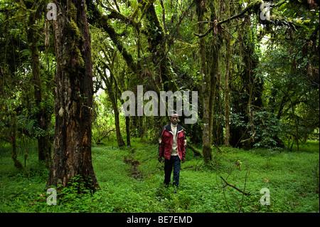 Wandern im Harenna Wald, Bale-Mountains-Nationalpark, Äthiopien - Stockfoto