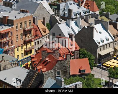 Kanada Quebec Quebec Stadtansicht von Unterstadt - Stockfoto