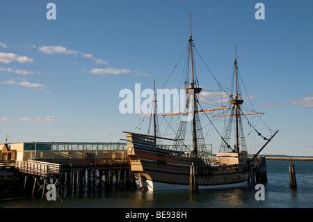 Die Mayflower ll im Hafen von Plymouth Plymouth, MA. - Stockfoto