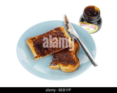 Marmite auf Toast - Stockfoto
