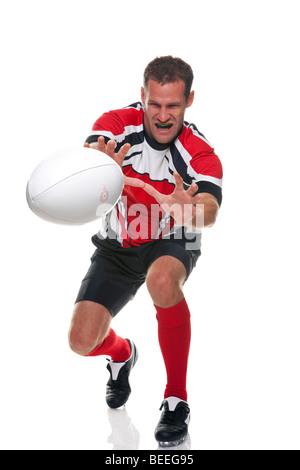 Rugby-Spieler - Teil einer Serie - Stockfoto