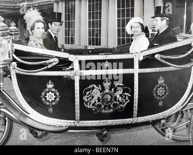 Elizabeth II. und Prinz Philip feiern Jubiläum - Stockfoto