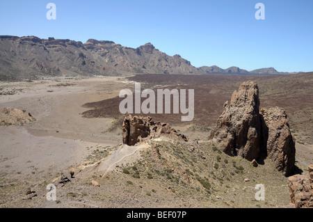 Caldera im Teide-Nationalpark, Teneriffa-Spanien - Stockfoto