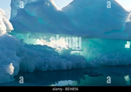 Spitzbergen, Svalbard, Packeis in der Nähe von Edgeoya - Stockfoto