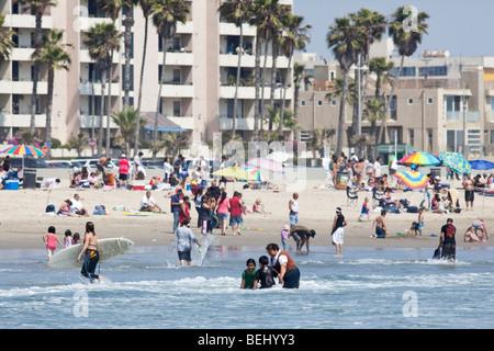 Menschen am Venice Beach in Los Angeles, Kalifornien, USA - Stockfoto