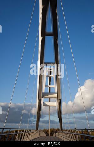 Infinity-Brücke, Stockton-on-Tees, Teeside, UK - Stockfoto