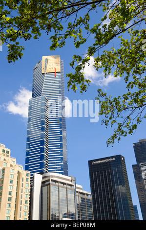 Eureka Tower, Melbourne. Eines der höchsten Wohngebäude der Welt. Bitte klicken Sie für weitere Details.