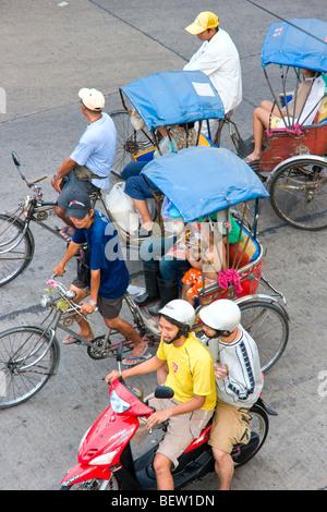 Straßenszene in Bangkok, Thailand. - Stockfoto