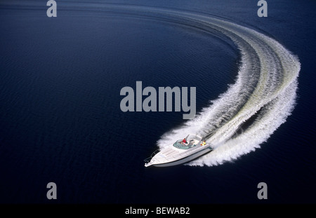 gleiten Motorboot, erhöht, Ansicht - Stockfoto