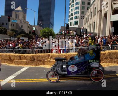 """RedBull """"Red Bull"""" Go-kart Seifenkiste """"Soap Box"""" Kart Rennen la Los Angeles - Stockfoto"""