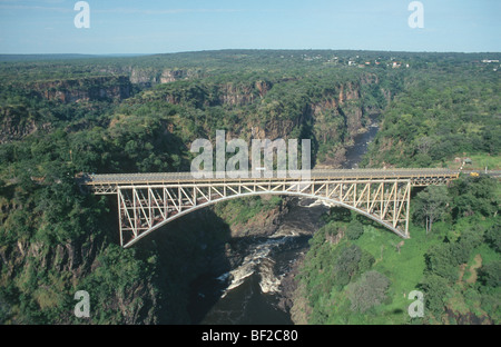 Brücke über den Sambesi, Viktoriafälle, Simbabwe - Stockfoto