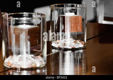 Kerzen im Glas - Stockfoto