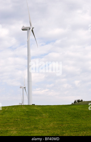 Windkraftanlagen Sie betriebene in Quebec Kanada. - Stockfoto