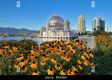Science World, False Creek, Vancouver, Britisch-Kolumbien, Kanada - Stockfoto