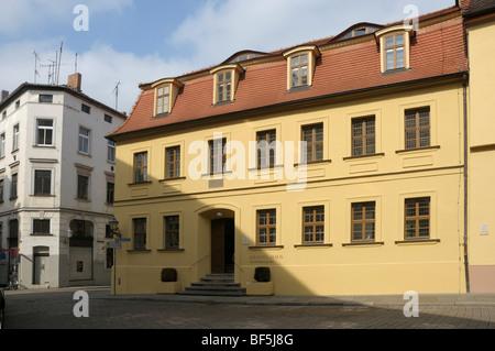 Händel-Haus, Halle an der Saale, Sachsen-Anhalt, Deutschland, Europa - Stockfoto