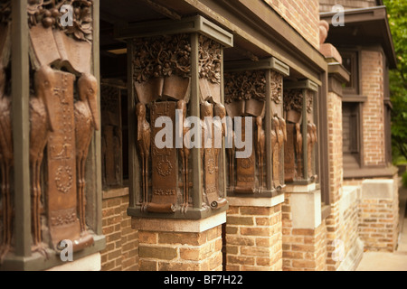 Architekt Frank Lloyd Wright Home und Studio, Frank Lloyd Wright Historic District, Oak Park, Illinois, Vereinigte - Stockfoto
