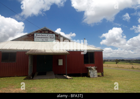 Metzger Creek Community Hall, Atherton Tableland, Queensland, Australien. Keine PR - Stockfoto