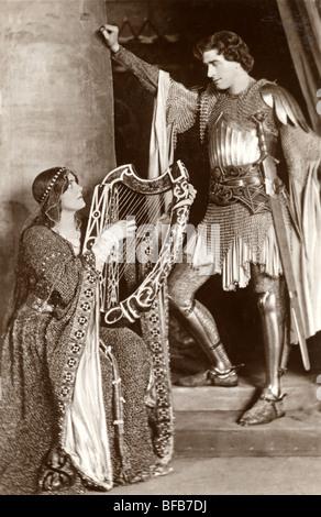 Mittelalterliche Ritter & seine gnädige Stockfoto