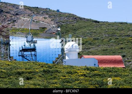 Observatorio Astrofisico, astronomisches Observatorium auf dem Roque de Los Muchachos, La Palma, Kanarische Inseln, - Stockfoto