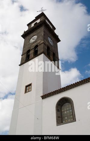 Buenavista del Norte Kirchturm in Teneriffa Kanarische Inseln - Stockfoto