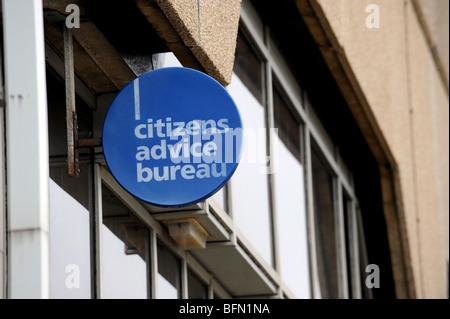 Bürgerinnen und bürger advice bureau zeichen stockfoto bild