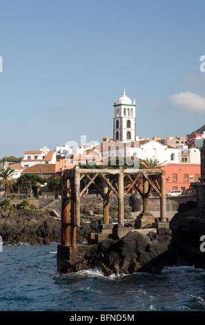Strand von Garachico Teneriffa-Kanarische Inseln-Spanien - Stockfoto