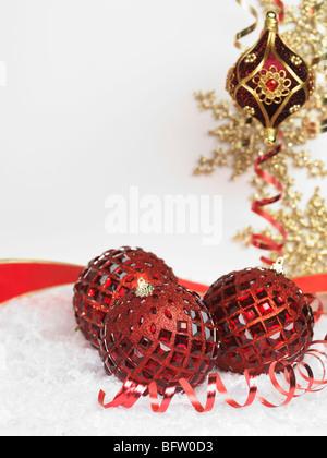 Weihnachten Dekoration künstlerischen Stillleben Hintergrund - Stockfoto