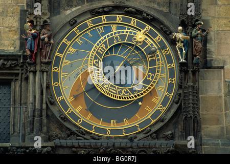 Astronomische Uhr, Altstädter Ring, Prag, Tschechische Republik, Europa - Stockfoto