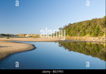 Strand mit Dünen und See, See-Reifen, Victoria, Australien, Pazifik - Stockfoto
