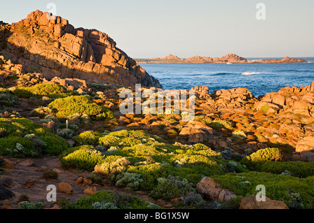 Kanal, Felsen, Yallingup, Leeuwin Naturaliste National Park, Western Australia, Australien, Pazifik - Stockfoto