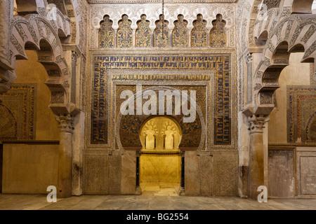 Bucht vor der Mihrab, Mezquita von Córdoba, Andalusien, Spanien - Stockfoto