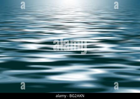 Sehr sanft weich strukturierte hinterleuchtete Wellen - nützlich als Hintergrund - Stockfoto